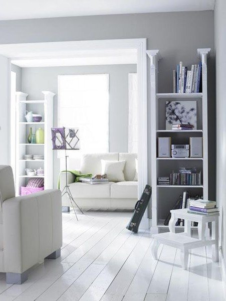 Creative White Living Room Ideas